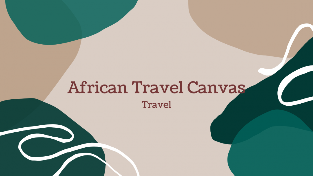 African Travel Canvas