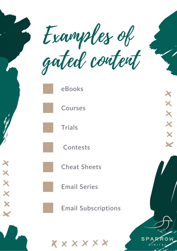 Examples of gated content